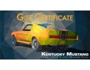 Kentucky Mustang Gift Certificate